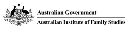 Australian Institute of Family Studies Survey